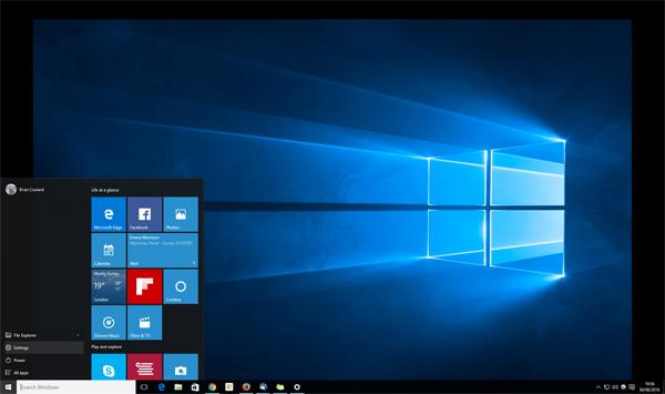 desktop after free windows 10 upgrade