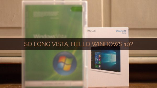 Windows Vista and Windows 10 installation media