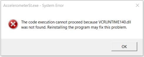 accelerometerst.exe system error message